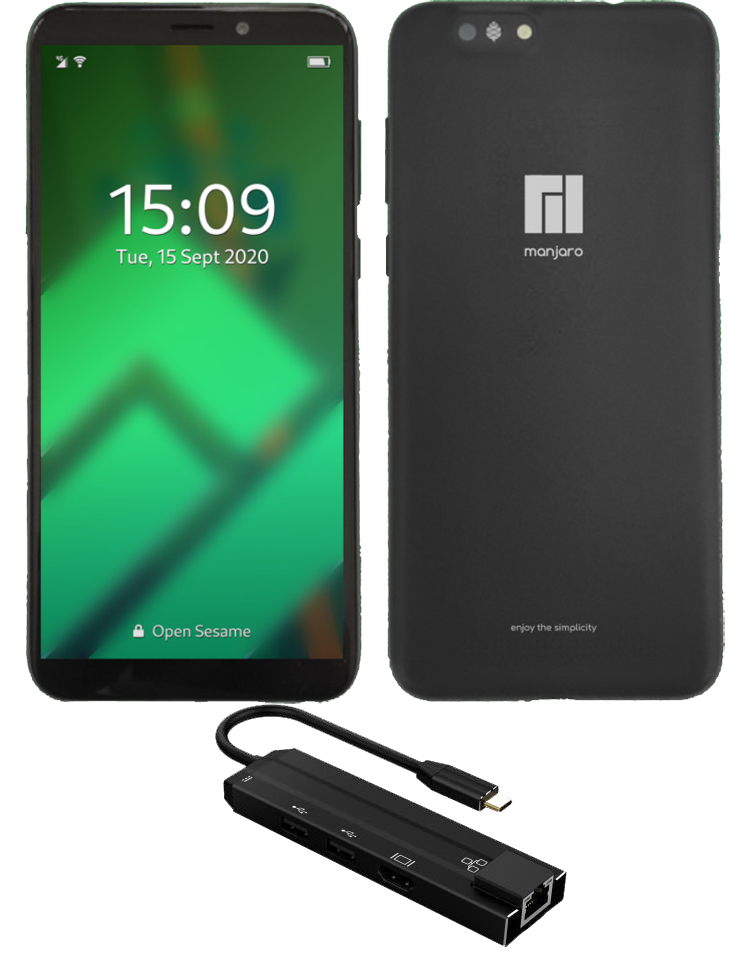 Manjaro Pinephone with Convergence Package